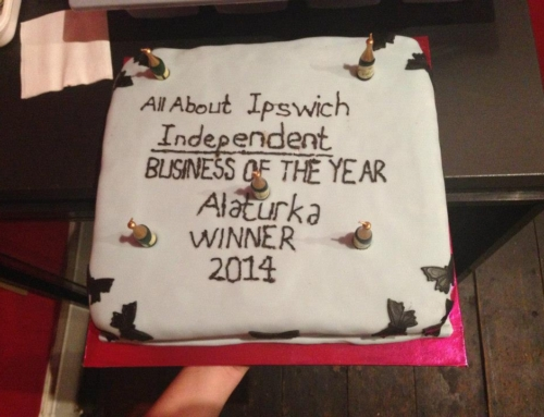 Celebration Cake for Ipswich Independent Business of the Year
